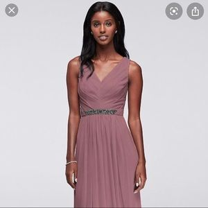 David's bridal mauve dress